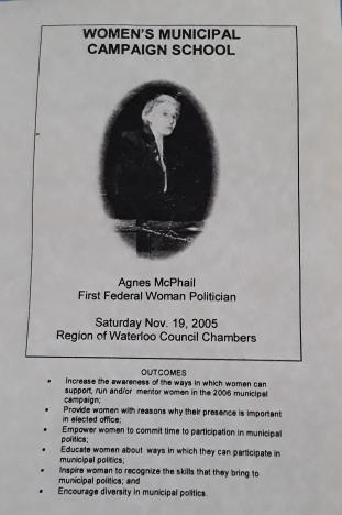 Waterloo Region Women's Municipal Campaign School